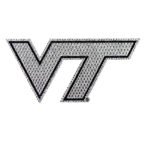 Virginia Tech Hokies Bling Car Emblem