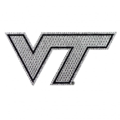 Virginia Tech Hokies Bling Car Emblem