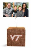 Virginia Tech Hokies Block Spiral Photo Holder