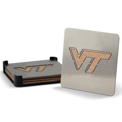Virginia Tech Hokies Boasters Stainless Steel Coasters - Set of 4