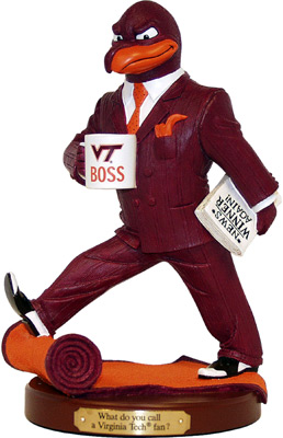Virginia Tech Hokies Boss Rivalry Figurine