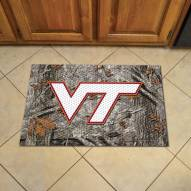 Virginia Tech Hokies Camo Scraper Door Mat