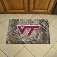 Virginia Tech Hokies Camo Scraper Door Mat