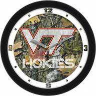 Virginia Tech Hokies Camo Wall Clock