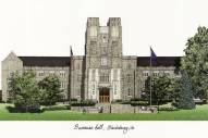 Virginia Tech Hokies Campus Images Lithograph