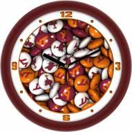 Virginia Tech Hokies Candy Wall Clock