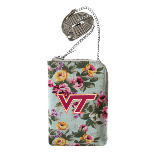 Virginia Tech Hokies Canvas Floral Smart Purse