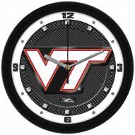 Virginia Tech Hokies Carbon Fiber Wall Clock