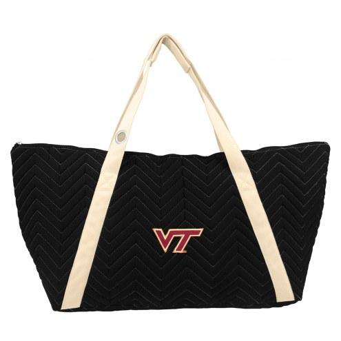 Virginia Tech Hokies Chevron Stitch Weekender Bag