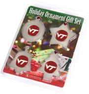 Virginia Tech Hokies Christmas Ornament Gift Set