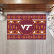 Virginia Tech Hokies Christmas Sweater Starter Rug