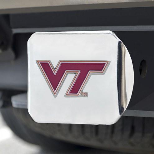Virginia Tech Hokies Chrome Color Hitch Cover