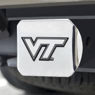 Virginia Tech Hokies Chrome Metal Hitch Cover