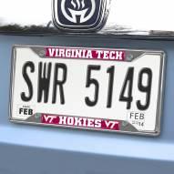 Virginia Tech Hokies Chrome Metal License Plate Frame