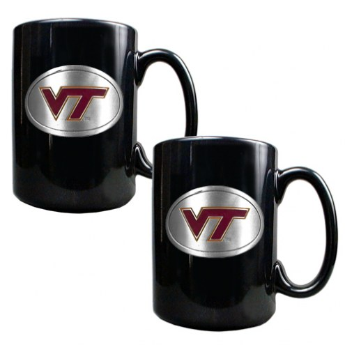Virginia Tech Hokies College 2-Piece Ceramic Coffee Mug Set