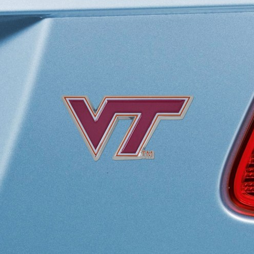 Virginia Tech Hokies Color Car Emblem