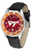 Virginia Tech Hokies Competitor AnoChrome Men's Watch - Color Bezel