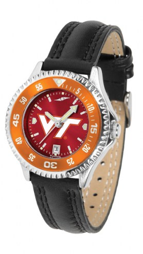 Virginia Tech Hokies Competitor AnoChrome Women's Watch - Color Bezel