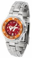 Virginia Tech Hokies Competitor Steel AnoChrome Women's Watch - Color Bezel