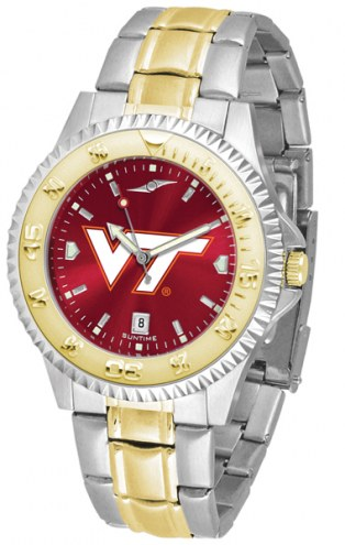 Virginia Tech Hokies Competitor Two-Tone AnoChrome Men's Watch