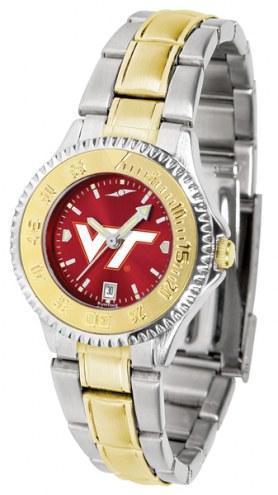 Virginia Tech Hokies Competitor Two-Tone AnoChrome Women's Watch