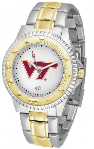 Virginia Tech Hokies Competitor Two-Tone Men's Watch
