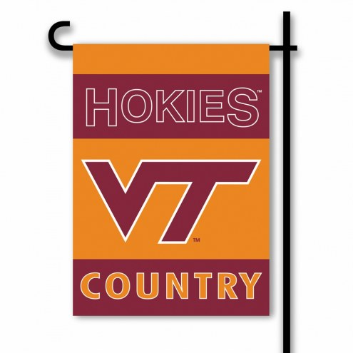 Virginia Tech Hokies Country Garden Flag