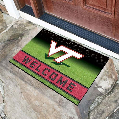 Virginia Tech Hokies Crumb Rubber Door Mat