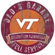 Virginia Tech Hokies Dad's Garage Sign