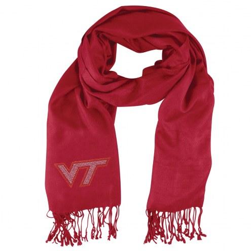 Virginia Tech Hokies Dark Red Pashi Fan Scarf