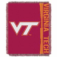 Virginia Tech Hokies Double Play Woven Throw Blanket
