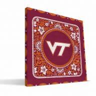 Virginia Tech Hokies Eclectic Canvas Print