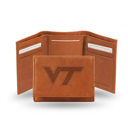 Virginia Tech Hokies Embossed Tri-Fold Wallet