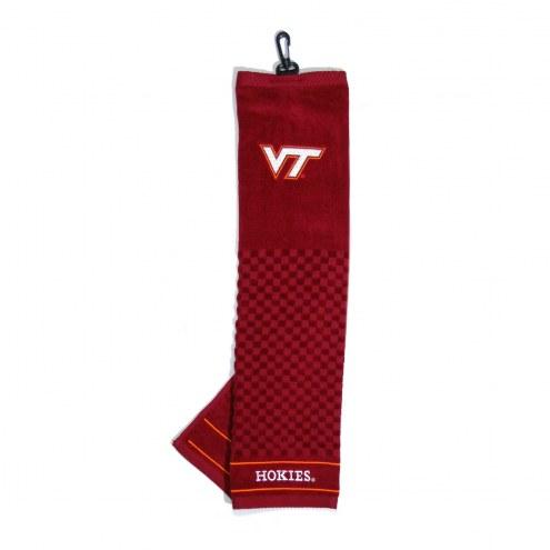 Virginia Tech Hokies Embroidered Golf Towel