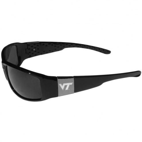 Virginia Tech Hokies Etched Chrome Wrap Sunglasses