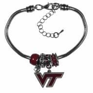 Virginia Tech Hokies Euro Bead Bracelet