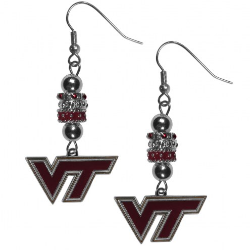 Virginia Tech Hokies Euro Bead Earrings