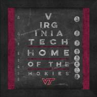 Virginia Tech Hokies Eye Chart