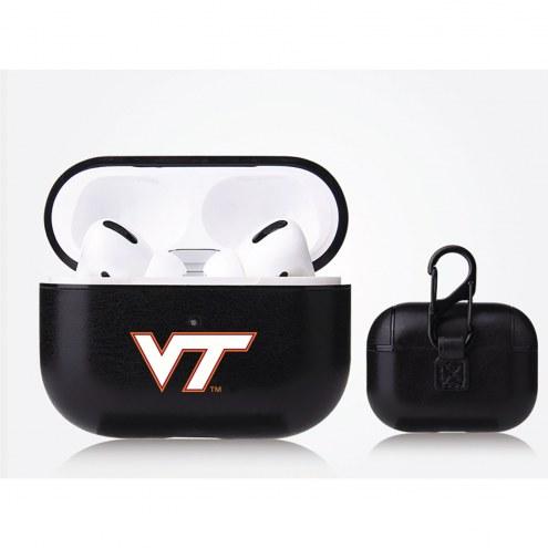 Virginia Tech Hokies Fan Brander Apple Air Pod Pro Leather Case