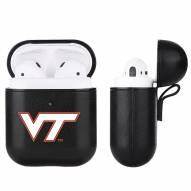 Virginia Tech Hokies Fan Brander Apple Air Pods Leather Case