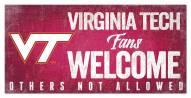Virginia Tech Hokies Fans Welcome Sign