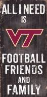 Virginia Tech Hokies Football, Friends & Family Wood Sign