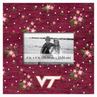 "Virginia Tech Hokies Floral 10"" x 10"" Picture Frame"