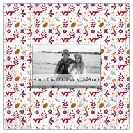 """Virginia Tech Hokies Floral Pattern 10"""" x 10"""" Picture Frame"""