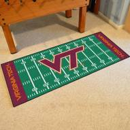 Virginia Tech Hokies Football Field Runner Rug