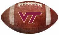 Virginia Tech Hokies Football Shaped Sign