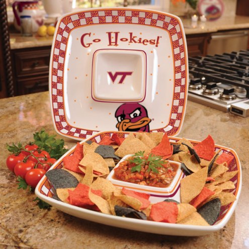 Virginia Tech Hokies Gameday Chip N Dip Dish