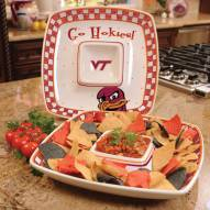 Virginia Tech Hokies Gameday Chip N Dip Dish
