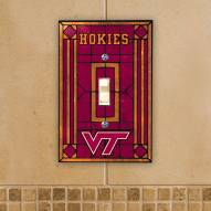 Virginia Tech Hokies Glass Single Light Switch Plate Cover