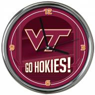 Virginia Tech Hokies Go Team Chrome Clock